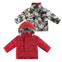 Down Coat Warm Winter Boys Parkas Thermal Toddler Hoody Children's Reversible Fashion Fall Clothes For Kids Thick Bubble Outfit