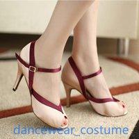 Sandals Women High Quality Party Ballroom Latin Tango Jazz Modern Salsa Dance Shoes Professional Heels US5-9
