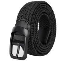 Waistband Drizzte Plus Size 100-190cm 190cm 63'' 67'' 71'' Long Bla Braid Elastic Stretch Belt Mens Metal Bule for Big and Tall Man