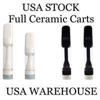 USA Stock Full Ceramic Cartridge 0.8ml 1.0ml Childproof Oil Atomizer Empty vape pen 510 Disposable Carts 2-5 Days Delivery Lead Free Cartridges