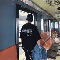 21 FFF masevi same black hot drill t-shirt men's fashion hip hop print short sleeve casual trend lovers T-shirt