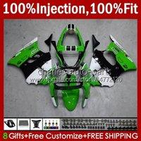 Spritzgusskörper für Kawasaki Ninja 600CC ZZR600 05 06 07 08 Körperarbeit 38HC.73 100% Fit ZZR-600 600 CC 05-08 grün weiß NEW ZZR 600 2005 2006 2007 2008 OEM Fantawing Kit