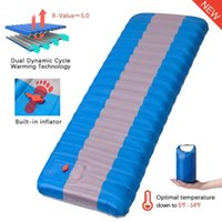 Outdoor Pads Self Inflatable Camping Mattress Sleeping Pad Thick Air For Tent Hiking Travel Beach Swimming Pool Floating Row