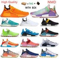 2021 Yarışlar NMD İnsan Yarışı Koşu Ayakkabıları PHARRELL WILLIAMS HU EXT EYE YOK KALİTE MENS BAŞKANLARI Erkekler Soluk Çıplak Nerd Koşucular Sneakers Trainers Kutusu