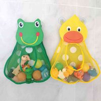 Baby Bath Toys Nice Duck Frog Mesh Net Toys Storage Bag Strong suction cups Bath Game Bag Bath Organizer Water Toys For Children wholesale