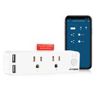 WIFI Smart wtyczka z USB Kompatybilna Amazon Alexa Google Home Protection Surge Protection ABS 110-240 V dla US CA pH TL MX