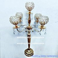 Party Decoration Est Wedding Props Crystal Cake Stand Table Centerpieces Flower Vase Display Sign Area Road Lea