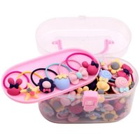 Hair Accessories 40Pcs Lot Girls Gift Box Elastic Bands Flower Clip Bows Headband Hairband Cute Hairbands For Kids