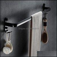 Serviette Hardware Home Home Gardentowel Racks Rack avec crochets Aluminium Hays Hangle Hange Cuisine Salle de douche Salle de douche Hange