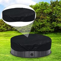 Outdoor Pads Foldable Round Pool Cover Portable Pet Shield Multifunctional Waterproof Dustproof Accessories MC889