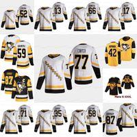 Jeff Carter Pittsburgh Penguins 2021 Reverse Retro Jersey Evgeni Malkin Jake Guentzel Sidney Crosby Mark Friedman Tanev Bryan 녹림 코디 Ceci Alex D 'Orio