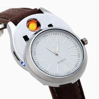 손목 시계 클래식 남성 시계 패션 충전식 USB 가벼운 방풍 플라스틱 담배 Quartz 2021