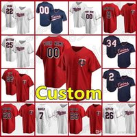 22 Miguel Sano Minnesota Custom Twins Jerseys 25 Byron Buxton 11 Jorge Polanco Baseball 34 Kirby Puckett Eddie Rosario Andrelton Simmons