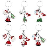 Creativity Christmas Series Santa Snowman Keychain Zinc alloy Pendant Gifts Decoration for Home Xmas Decor DH8766