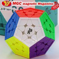 퍼즐 매직 큐브 MGC 마그네틱 메가 멘덱스 스피드 퍼즐 전문 12 축 Dodecahedron Professional Speed Megamin 3x3 Cubo