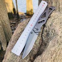 Cuchillo plegable al aire libre Alta dureza afilada 440C Handle de acero inoxidable Camping Autodefensa Escalada Fruta Herramientas de cocina