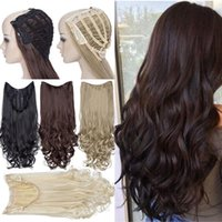 Synthetic Wigs S-nolilite U Part Clip In One Piece Hair Wavy Half Head Wig Natural Hairpiece For Women