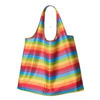 Shopping bag large printing polyester environmental protection folding bags handbag Home Storage 58*65cm CCD8946