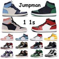 Jumpman 1s Basketbol Ayakkabıları OG Yüksek Erkekler Üniversitesi Mavi Gölge Siyah Spor Salonu Kırmızı Turbo Yeşil Kravat Boya Biue Chill Hyper Kraliyet Phantom UNC Koyu Mocha Kadın Boyutu 36-46