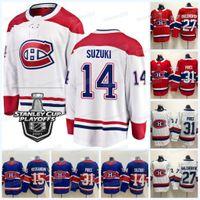Homens Mulheres Jovens Montreal Canadiens 2021 Stanley Cup Playoffs Jersey Shea Weber Carey Preço Tyler Toffoli Eric Staal Nick Suzuki Phillip Danault Tomas Tatar