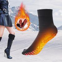 Socks & Hosiery Self Heating Warm Tourmaline Pain Relief Unisex Operated Winter Foot Warmer Electric Elastic Soft Socks#T2