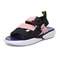 Sandals Fashion Open Toe Sports T-shaped Platform Shoes 2021 Women's Summer Beach Flat Casual Slippers