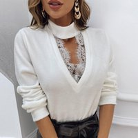 Retro 2021 Women Plus Size Shirts Sexy V-Neck Solid Color Clothes Lady Casual Oversized Long Sleeve Blouse Fashion Office Tops Women's Blous