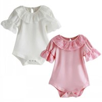 Clothing Sets Est Fashion High Quality Cute UK Lace Toddler Born Baby Girl Causal Cotton Ruffle Bodysuit Romper Jumpsuit Outfit Clothes