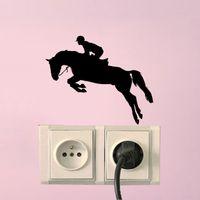 At Spor Atlama Yatak Odası Duvar Çıkartmaları Vinil Işık Siwtch Çıkartması 6 SS0045