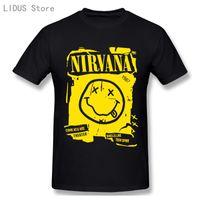 Nirvana 3D Imprimir camiseta Roca Música Banda Streetwear Hombres Mujeres Moda O-Cuello Manga corta Camiseta Hip Hop Tees Tops Unisex Camisetas de los hombres