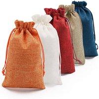 الرباط حقيبة أكياس الخيش الطبيعي قابلة لإعادة الاستخدام التعبئة والتغليف جيب الزفاف الطفل الاستحمام عيد ميلاد عيد هدية الحقيبة الحلي