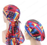 Beanieskull Hats Caps Hats Scarves Gloves Fashion Accessories Drop Delivery 2021 African Pattern Print Silky Durag And 2Pcs Set Women Ankara