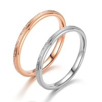 couple engagement wedding promise rings ring Romantic simple frosted lovers Japan and South Korea style manufacturers sales