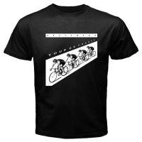 Kraftwerk 투어 드 프랑스 로고 남자의 블랙 티셔츠 사이즈 S-3XL 100 % 코튼