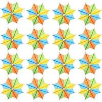 Forks Octagonal Star-Shaped Umbrellas Cocktail Umbrella Picks Drink Parasol Paper Cupcake Toppers Stick
