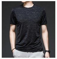 Famous designer tee men's round neck short-sleeved t-shirt sports and leisure thin section compassionate comfortable breathable top bot