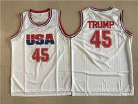 Hightower Crenshaw 44 Bryant College كرة السلة ملابس البيسبول دونالد 45 ترامب قميص أبيض موحدة Punahou باراك 23 مدرسة أوباما كرة القدم الثانوية للمشجعين الرياضة
