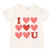Fashion Pure Cotton T-shirts for Baby Girl Love Printing White Short Sleeve T Shirts Summer Toddler Kids Cute Small Tops Soft Children's Clothing 1-7Y