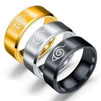 Proyearn 8mm Naruto in acciaio in acciaio per uomo anello anello intorno anello in acciaio inox per uomo anello di tungsteno