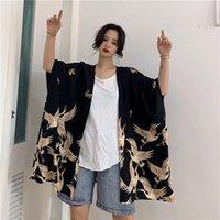 여성 블라우스 셔츠 기모노 카디 건 튜닉 특대 여성 탑 및 여름 2021 숙녀 여성 일본식 Boho 의류 001