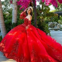 Mexican Dark Red vestidos de 15 años Quinceanera Dresses with Removeable Sleeves Sequin Applique Sweet 16 Dress Long Prom GownGraduation Dress Sweet 16 Dress