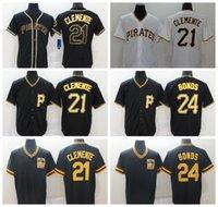PittsburghPiratasJerseys de béisbol 21 Roberto Clemente 24 Barry Bonds Stargell Polanco Bell Hombres Mujeres Tamaño juvenil -XXXXL
