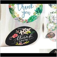 Wrap Event Festive Party Home & Gardenpaper Label Thank You Hand Made Stickers For Scrapbook Stationery Sticker Gift Wine Bottle Envelope Dec