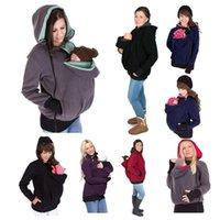 Baby Carrier Jacket Kangaroo Designer Outerwear Sudaderas con capucha Otoño Fleece Sudadera Sudadera con cremallera Abrigo para mujeres embarazadas Pantería de mascota Bolsa con capucha Abrigos 9 colores