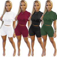 Женщины дизайнеры Одежда 2021 трексуиты весна и летние сплошные цветные спортивные талии набор мода досуг двух кусок спортивных костюмов