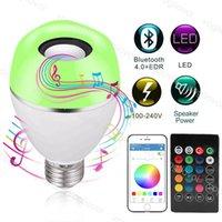 LED-Zwiebeln 9W Smart E27 4.0 Bluetooth RGB-Musik spielen dimmbare drahtlose Glühbirne Indoor-Wohnkultur Beleuchtungslampe DHL