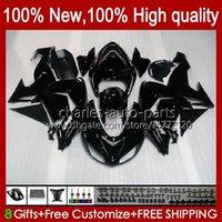 Motorcycle Fairings For KAWASAKI NINJA ZX-10R ZX1000 ZX 10R 10 R 1000 CC 2006-2007 Bodywork 14No.56 ZX1000C ZX10R 06 07 ZX1000CC 1000CC 2006 2007 Bodys kit black stock