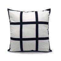 9 Pannello cuscino in sublimazione in sublimazione copertura del cuscino vuota Nuovo arrivo cuscino di poliestere cuscino a caldo stampaggio a caldo diy regalo personalizzato 40 * 40 cm