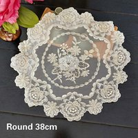 Mats & Pads Exquisite Mesh Embroidery Kitchen Restaurant Placemat Balcony Coffee Table Vase Mat Small Furniture Dust Decorative Pad