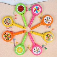 1шт весело детское свисток обучение барабанчика игрушка детская погремушка гранул барабан мультфильм музыкальный инструмент игрушка детские образовательные игрушечные дети подарок